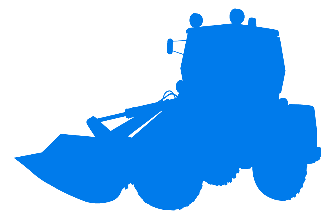 Tractor blue